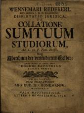 De collatione sumptuum studiorum