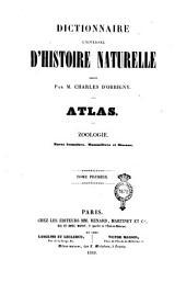 Dictionnaire universel d'histoire naturelle ...: Atlas 1 Zoologie