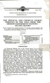 The physical and chemical characteristics of the soils from the erosion experiment stations: second report, Volumes 426-450