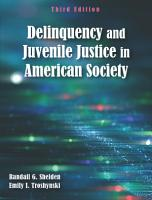 Delinquency and Juvenile Justice in American Society PDF