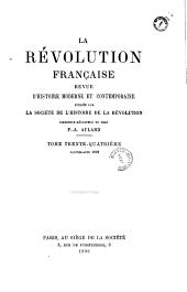 La Révolution française: revue d'histoire contemporaine