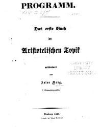Erl  uterungen des ersten buche der aristotelischen topik PDF