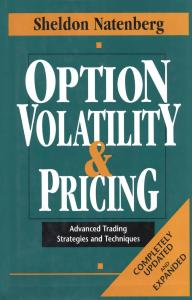 Option Volatility   Pricing  Advanced Trading Strategies and Techniques Book