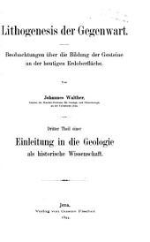 Lithogenesis der Gegenwart. 1894