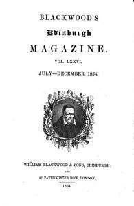 Blackwood s Edinburgh magazine Book
