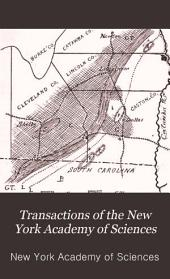 Transactions of the New York Academy of Sciences: Volumes 8-9