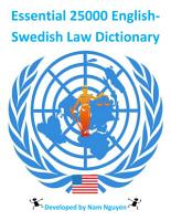 Essential 25000 English Swedish Law Dictionary PDF