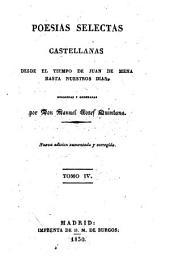 Poesías selectas castellanas, desde el tiempo de Juan de Mena hasta nuestros dias: Volumen 4