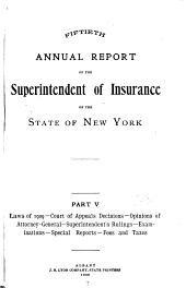 Annual Report of the Superintendent of Insurance: Volume 50, Part 5