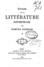 Études sur la littérature contemporaine: Volume6