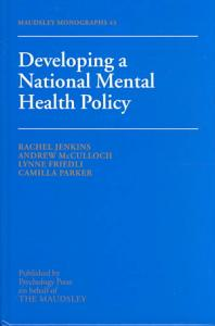 Developing a National Mental Health Policy PDF