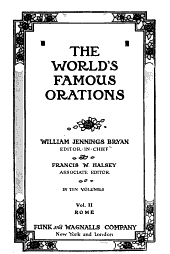 The World's Famous Orations: Volume 2