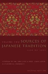 Sources Of Japanese Tradition Book PDF