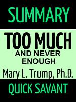 Summary: Too Much and Never Enough: Mary L. Trump