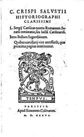 L. Sergii Catilinae contra Romanum Senatum conjuratio seu bellum Catilinarium. Item bellum Jugurthinum (etc.)