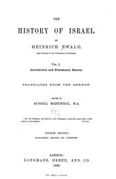 The History of Israel: Volume 1