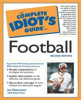The Complete Idiot s Guide to Football  2nd Edition PDF