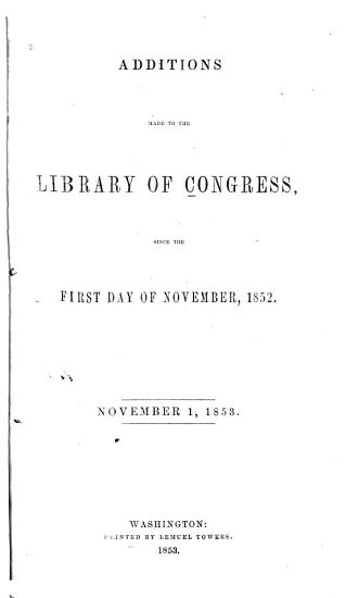 Additions Made to the Library of Congress PDF