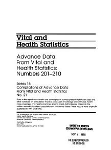 Advance Data from Vital and Health Statistics PDF