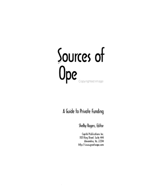 Sources of Operating Grants PDF