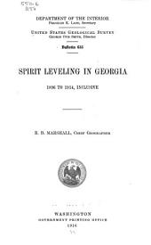 Spirit Leveling in Georgia, 1896 to 1914, Inclusive: Issues 631-639