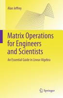 Matrix Operations for Engineers and Scientists PDF