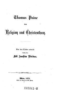 Thomas Paine   ber Religion und Christenthum PDF