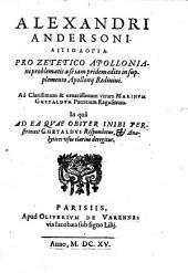 Aitiologia pro Zeletico Apolloniani problematis