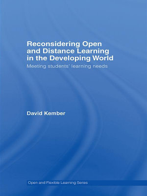 Reconsidering Open and Distance Learning in the Developing World PDF