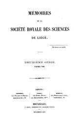 Mémoires de la Société royale des sciences de Liège