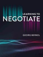 Learning to Negotiate PDF