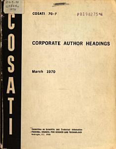 Corporate Author Headings PDF