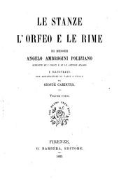 Le Stanze, l'Orfeo e le Rime
