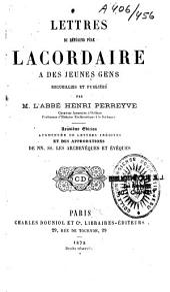 Lettres du révérend père Lacordaire à des jeunes gens