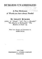 Burgess Unabridged: A New Dictionary of Words You Have Always Needed