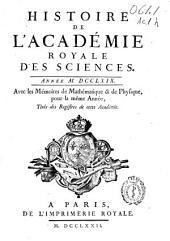 Histoire de l'Académie Royale des Sciences: année MDCCLXIV avec les mémoires de mathématique & de physique, pour la même année, tirés des registres de cette Academie