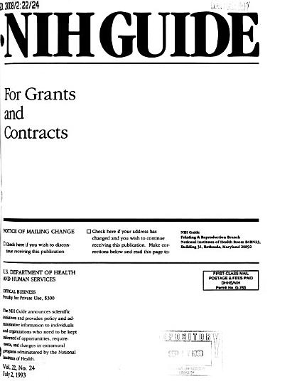 NIH Guide for Grants and Contracts PDF