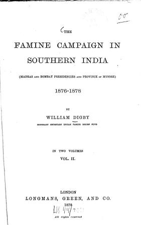The famine campaign in Southern India0 PDF