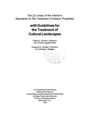 The Secretary of the Interior s Standards for the Treatment of Historic Properties