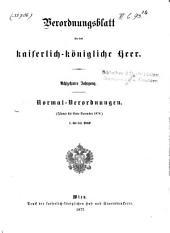 Verordnungsblatt für das k. u. k. Heer: Normal-Verodnungen, Band 18