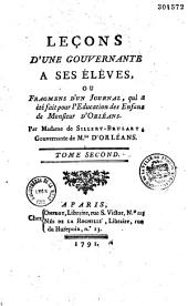 Leçons d'une gouvernante à ses élèves, ou Fragments d'un journal, qui a été fait pour l'éducation des enfans de Monsieur d'Orléans, par Madame de Sillery-Brulart,...