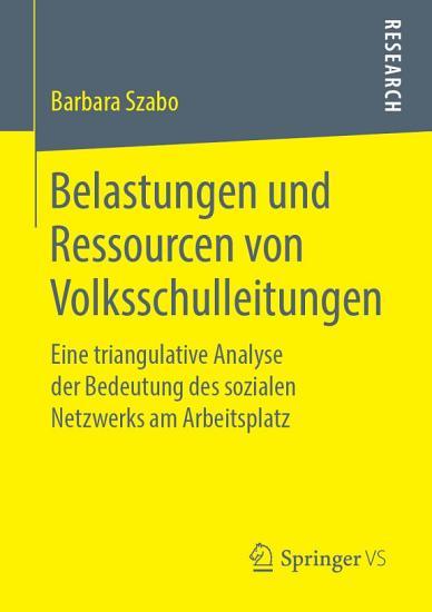 Belastungen und Ressourcen von Volksschulleitungen PDF