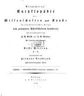 Allgemeine Encyclopädie der Wissenschaften und Künste in alphabetischer Folge: Erster Section: A-G, Band 92