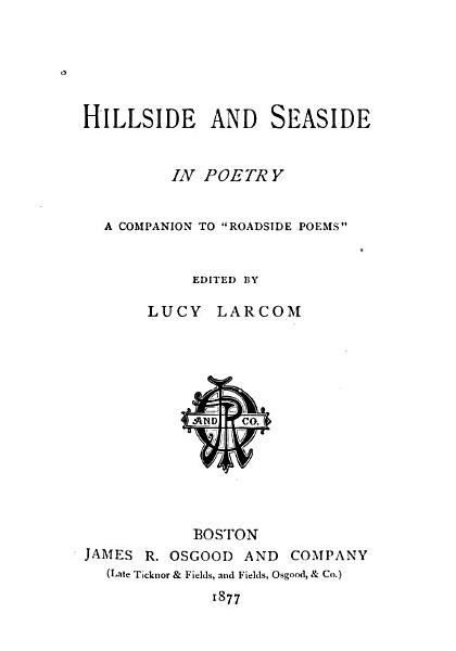 Download Hillside and Seaside in Poetry Book