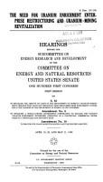 The need for uranium enrichment enterprise restructuring and uranium mining revitalization PDF