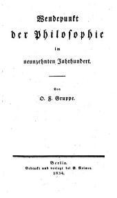Wendepunkt der Philosophie im neunzehnten Jahrhundert