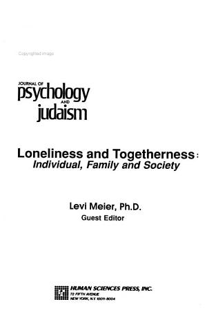 Journal of Psychology and Judaism PDF