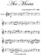 Ave Maria Easy Violin Sheet Music