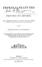 Imperial Statutes Affecting the Province of Ontario
