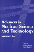 Advances in Nuclear Science and Technology PDF